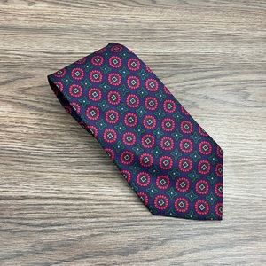 Jos A Bank Plum w/ Red, Gold & Green Check Tie